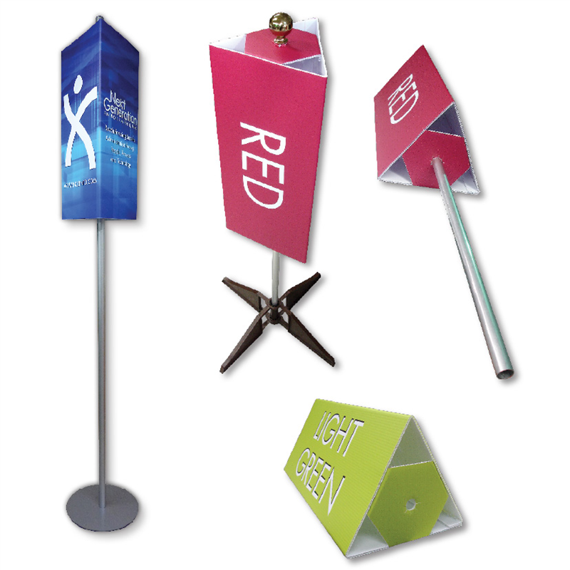 free standing pole sign event signage directional signs trade