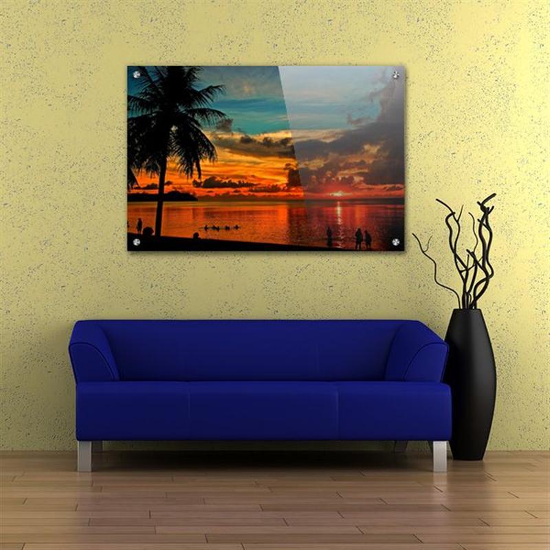 Acrylic Wall Art & Acrylic Wall Art Glossy Lobby Display Contemporary Corporate ...