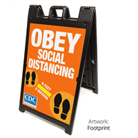 Social Distancing A-Frame Signs