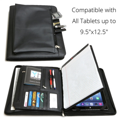 Business Leather Portfolio For Ipad Microsoft Surface Pro