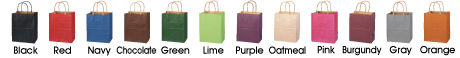 Kraft Shopping bags with Custom Full Color Printing